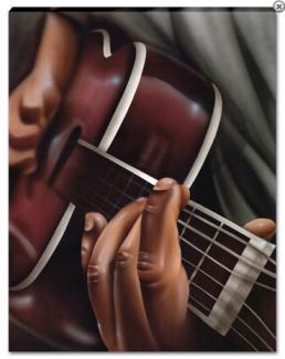 Guitar on Canvas