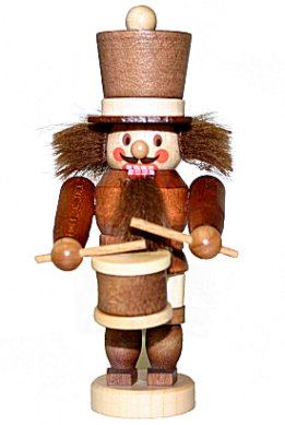 A Nutcracker Miniature Drummer in Natural Woods