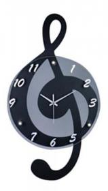 Clever Clock G Clef Design