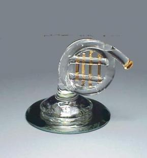blown glass French Horn Figurine