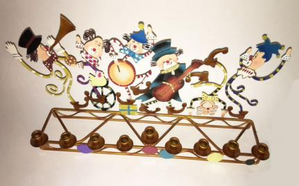 Judaica - Menorah with Klezmer Klowns