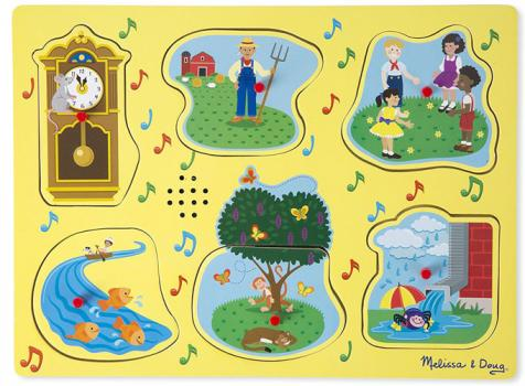 Melissa and Doug Nursery Rhyme Sound Puzzle (yellow)