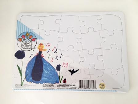 packaged blank jigsaw puzzle for you to paint