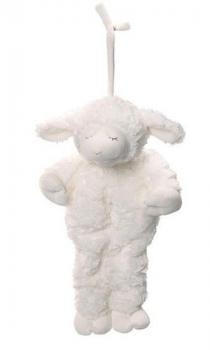 Plush Winky Waggie Lamb Pull Down - Brahms Lullaby