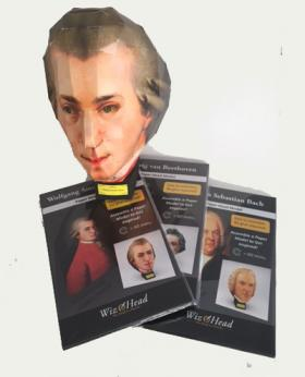 Wiz Head Puzzles, Bach Beethoven and Mozart
