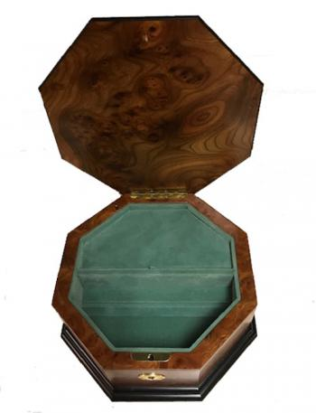 Interior view of Octagon Music Box