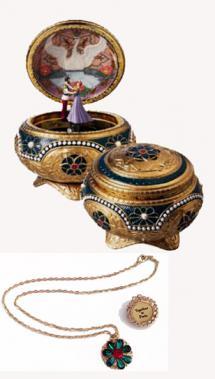 Nicholas and Alexandra -  Anastasia's Music Box with Necklace
