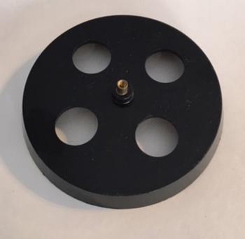 """Easy Wind Up Black Plastic 4"""" turntable platform key"""