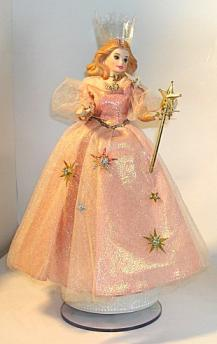 Vintage Barbie as Glinda (the good witch from Wizard of Oz) Musical Figurine
