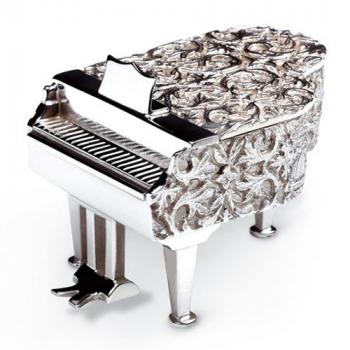 Miniature Piano in Solid Silver from the Reuge Collection