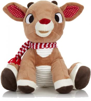Rudolph The Red Nosed Reindeer Plush Animal. His nose lights up while his song plays.