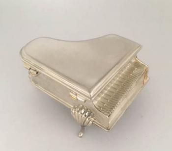Silver Piano Music Box
