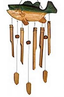 Woodstock Bass Fish Bamboo Chime