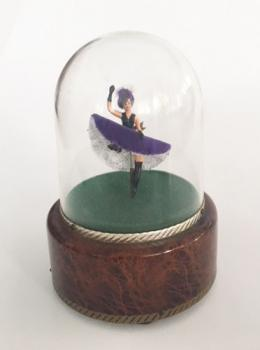 Vintage Reuge Can-can Dancer under Dome
