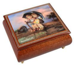 Stormy Weather Hummel Decoupage on Music Box