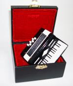 Miniature Black Accordion with case
