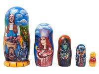 Dorthy and Land of Oz Nesting Dolls
