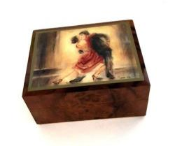 Ercolano Tango Dancers Music Box (small)