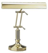Lamp polished brass with decagonal base
