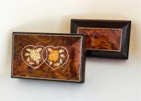For Him or Her, view of both music boxes.