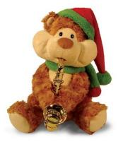"Cuddle Barn ""Christmas Cheeks"" animated musical Sax Player Bear"