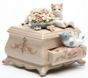 Kittens on a Dresser  Musical Figurine