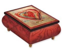 Love on a Rainy Day Painting on Music Box