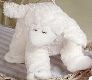 Winky Waggie White Musical Plush Lamb by Gund