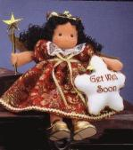 Musical Dolls - Get Well Soon Musical Afro-American Angel Doll