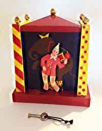 Vintage Swiss Clown Bank plays Ta Ra Ra Boom Di Yay