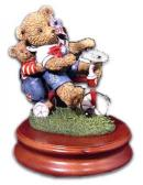Musical Thread Bear on Tricycle with Little Pinwheel