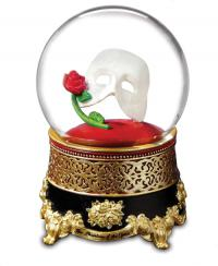 Classic Phantom of the Opera Mask and Rose Water Globe