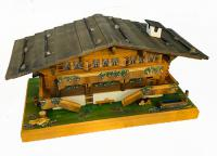 Large Swiss Chalet  with second story and chimney