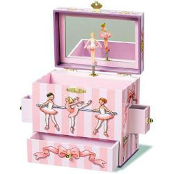 Enchantmints larger Ballerina Musical Jewelry Box depicting Ballet Class