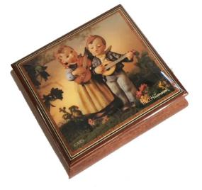 Ercolano Music Box with Hummel's decoupage Happy Days