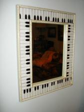 Wall Mirror with Mozaic Keyboard Design