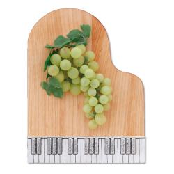 piano cutting board with Pewter Keyboard trim
