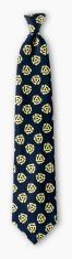 necktie with  subtle 45 rpm adapter design