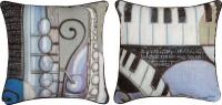 Pillows - Cool Jazz Reversible Pillow features Piano and Sax