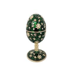 Musical Green Jeweled enameled Egg