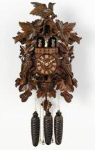 Cuckoo Clock Musical with Dancers Carved Maple Leaf design