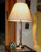 custom lamp made from flute