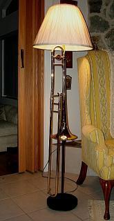 Lamp made of Trombone