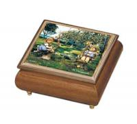 Hummel Apple Tree Boy and Girl Music Box