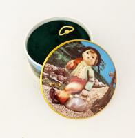 Hummel Round Porcelain Music Box - The Happy Wanderer