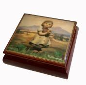 Hummel music box Girl with Flowers