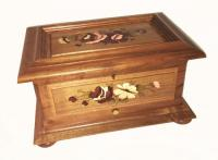 Large Floral Inlaid 3.72 musical Box
