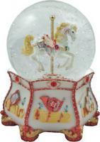 A Musical Glitter Globe featuring musical instruments