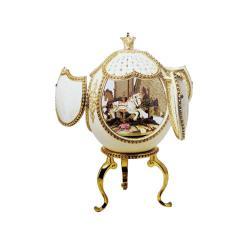 Musical Ornate Merry Go Round Ostrich Egg