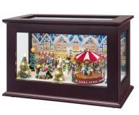 heirloom Christmas scene with carousel